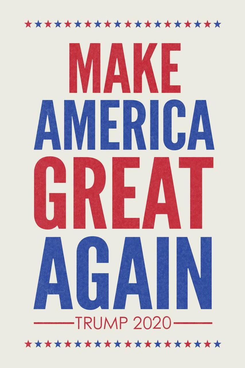 make america great again trump 2020 republican presidential election patriotic white cool wall decor art print poster 24x36