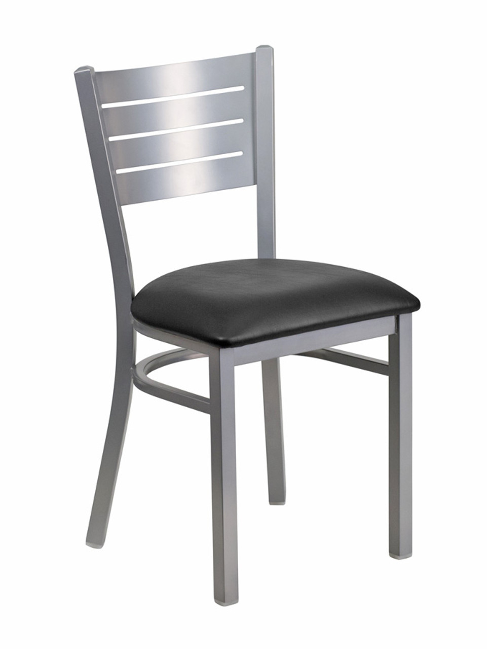 steel vinyl chair rustic wood chairs silver slat frame restaurant with commercial grade 800 637 5596