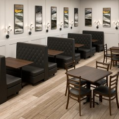 Custom Restaurant Tables And Chairs Rattan Peacock Chair Banquette Double Booths 800 637 5596 Seating