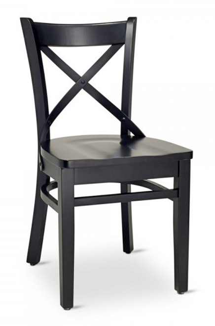 chair design restaurant cross back dining bar wood chairs modernlinefurniture european solid frame saddle seat commercial available in black and walnut finishes optional padded