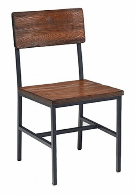 stackable restaurant chairs dining chair covers target australia bar metal modernlinefurniture reclaimed wood industrial steel frame natural finish optional upholstered seat