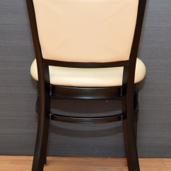 Metal Restaurant Chairs Fold Up Wheelchair Commercial Grade Sand Upholstery Set Of Twelve