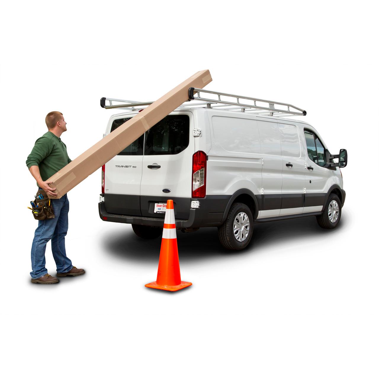 prime design ar1910 ladder rack for ford transit 130 wb mid roof