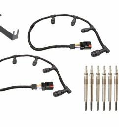 fits ford 6 0l powerstroke diesel truck 6 0 f250 f350 2004 10 automotive michigan motorsports glow plug harness replacement parts [ 1280 x 974 Pixel ]