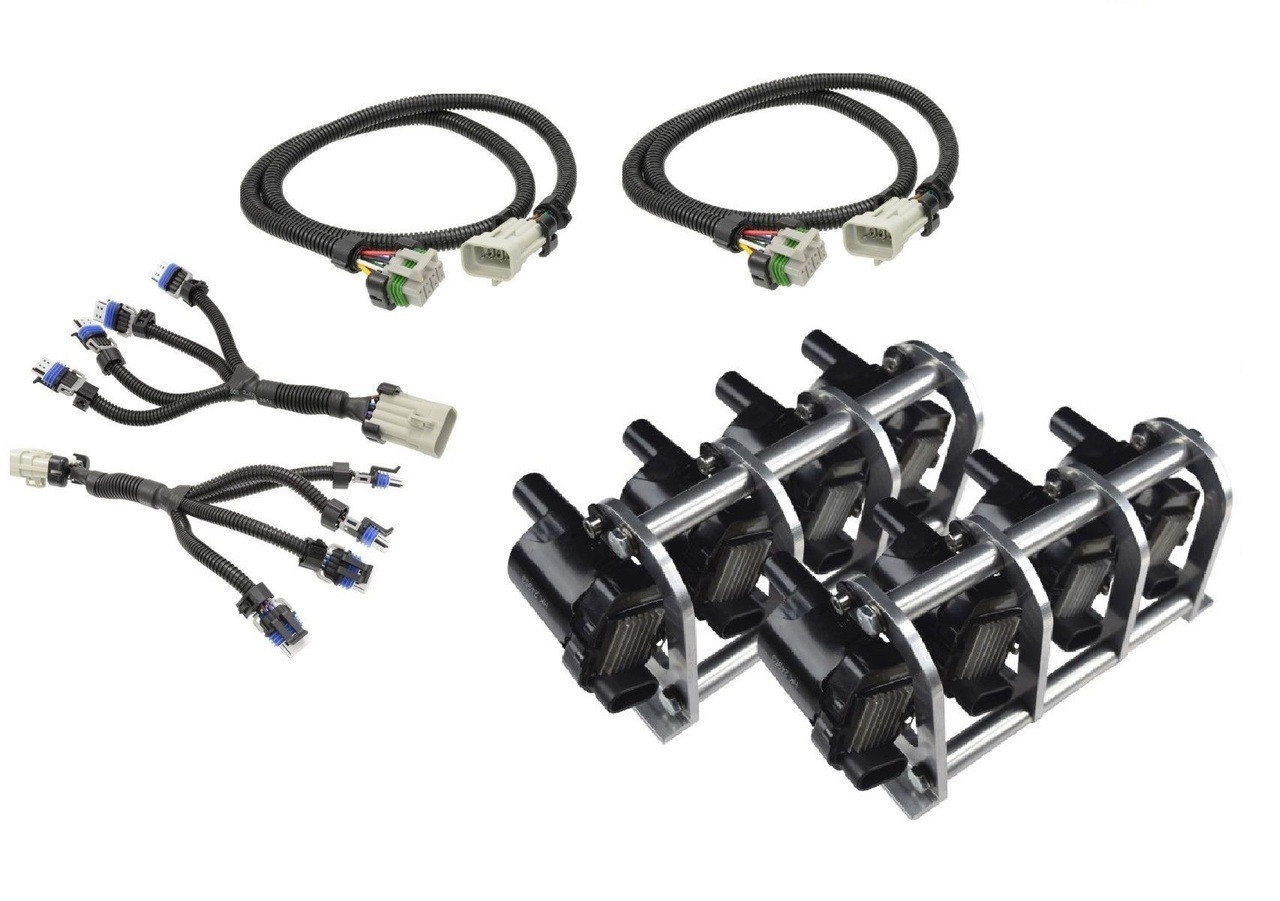 small resolution of d585 heat sink truck coil relocation bracket kit with harnesses lsx ls lq4 lq9 remote