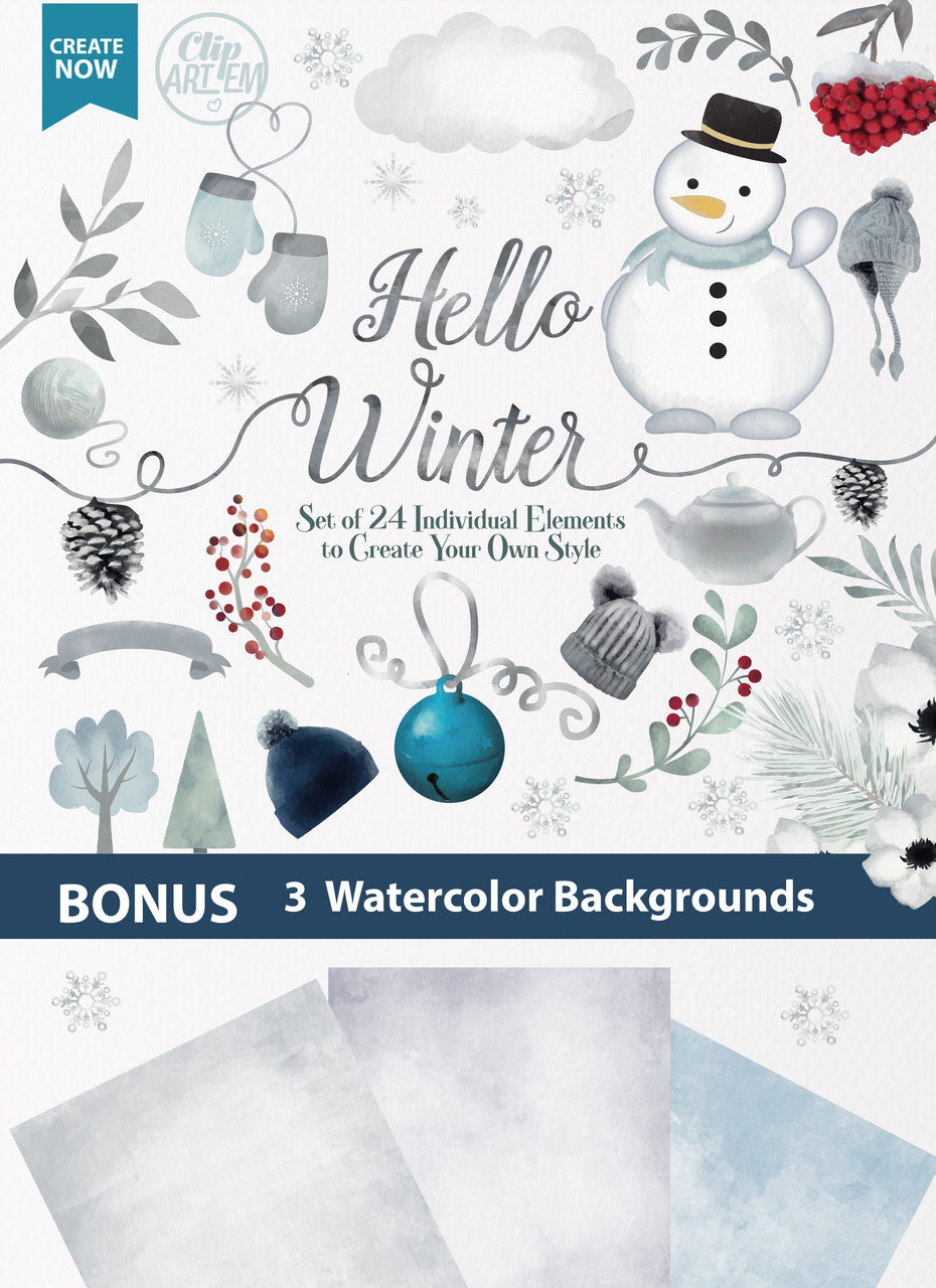 medium resolution of hello winter watercolor clipart snowman winter gloves winter hat cold snow snowflakes digital clipart hello winter clipart flowers tree banner adly