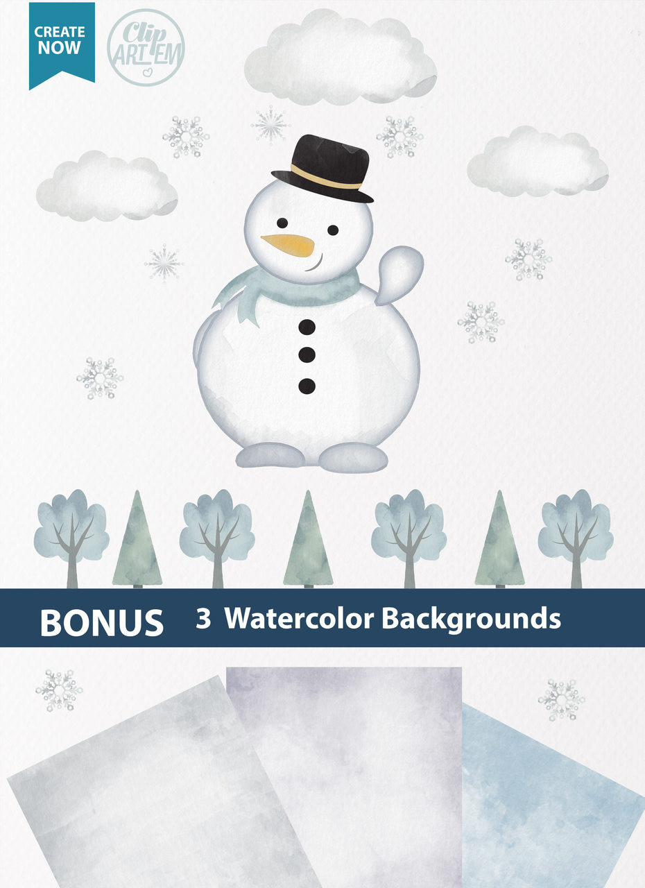 watercolor snowman clipart winter clipart water color clipart digital snowman clipart instant download adly invitations and digital party designs [ 930 x 1280 Pixel ]