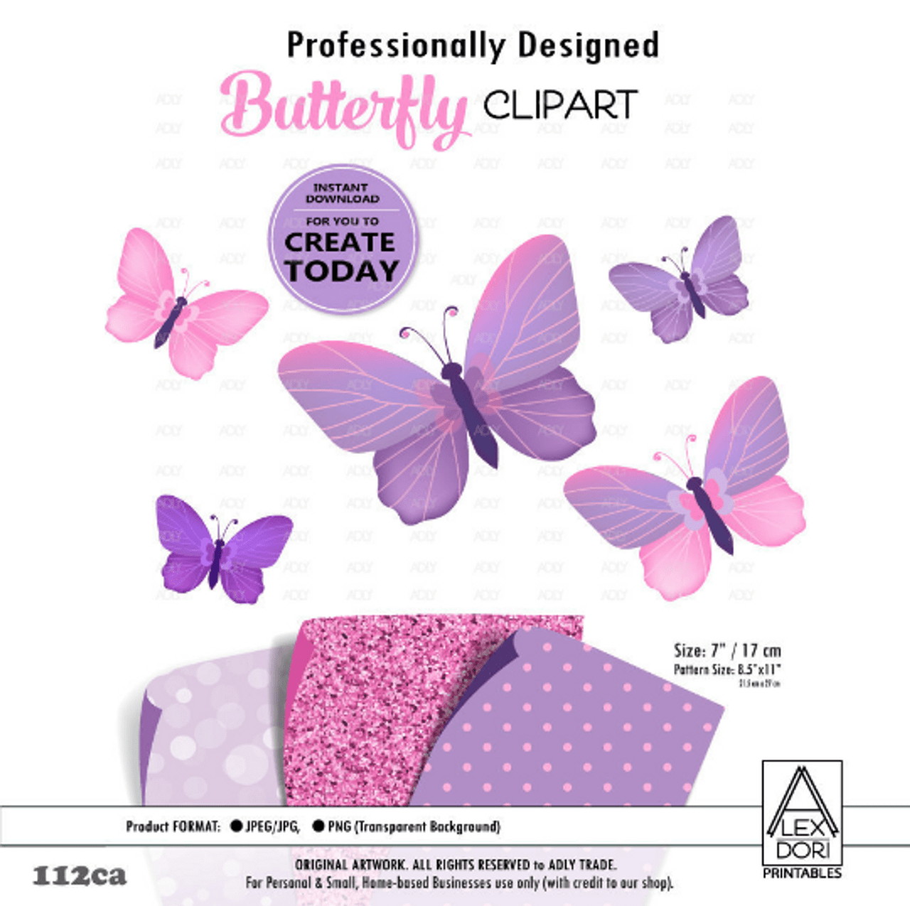 small resolution of purple pink butterfly clipart polka dot glitter background clipart for nursery decoration t shirt adly invitations and digital party designs