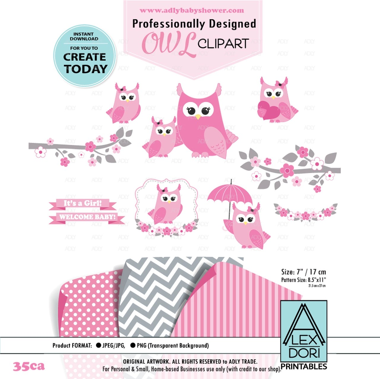 small resolution of pink owl clip art mommy and baby owls clipart digital images for commercial use adly invitations and digital party designs