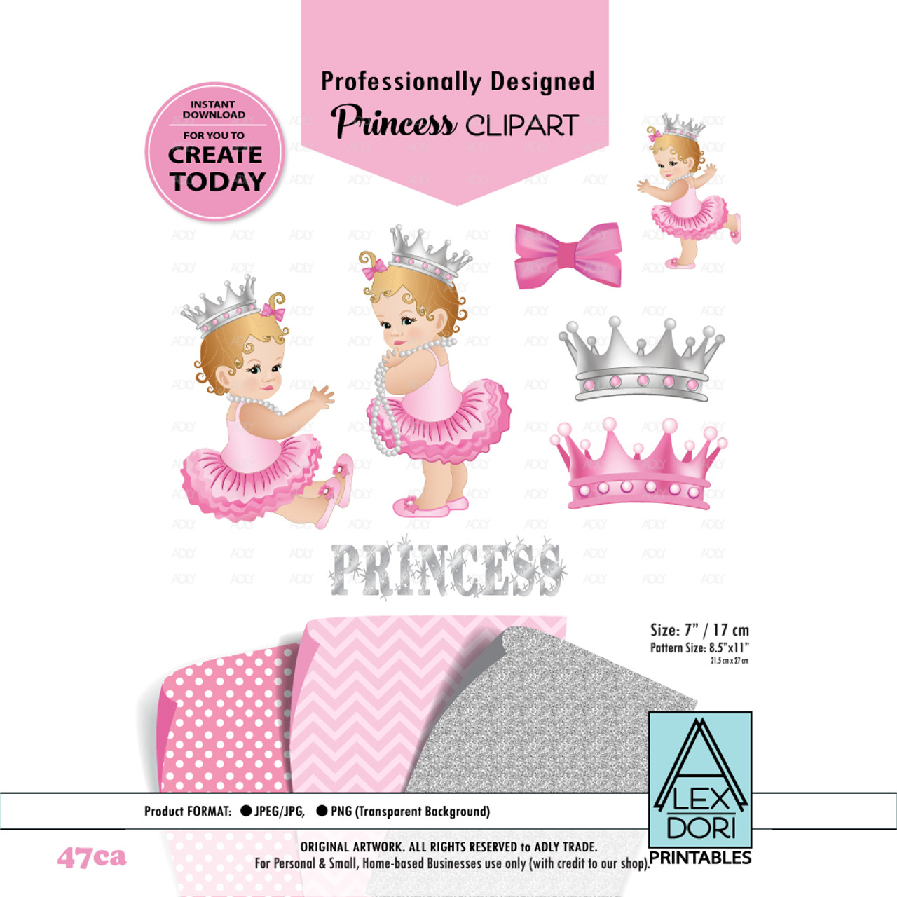 princess baby shower digital clipart pink and gray clipart royal baby shower crowns tiara clipart adly invitations and digital party designs [ 971 x 971 Pixel ]