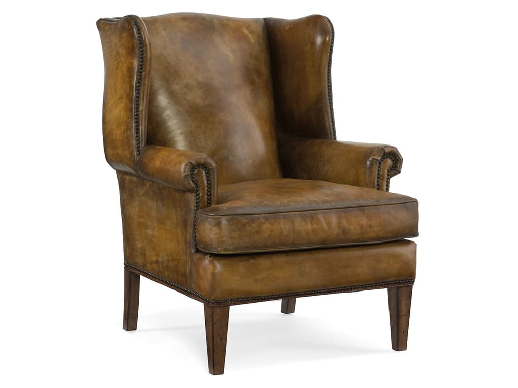 Brown Leather Wingback Chair Hooker Cc408 Brown Leather Wing Back Chair