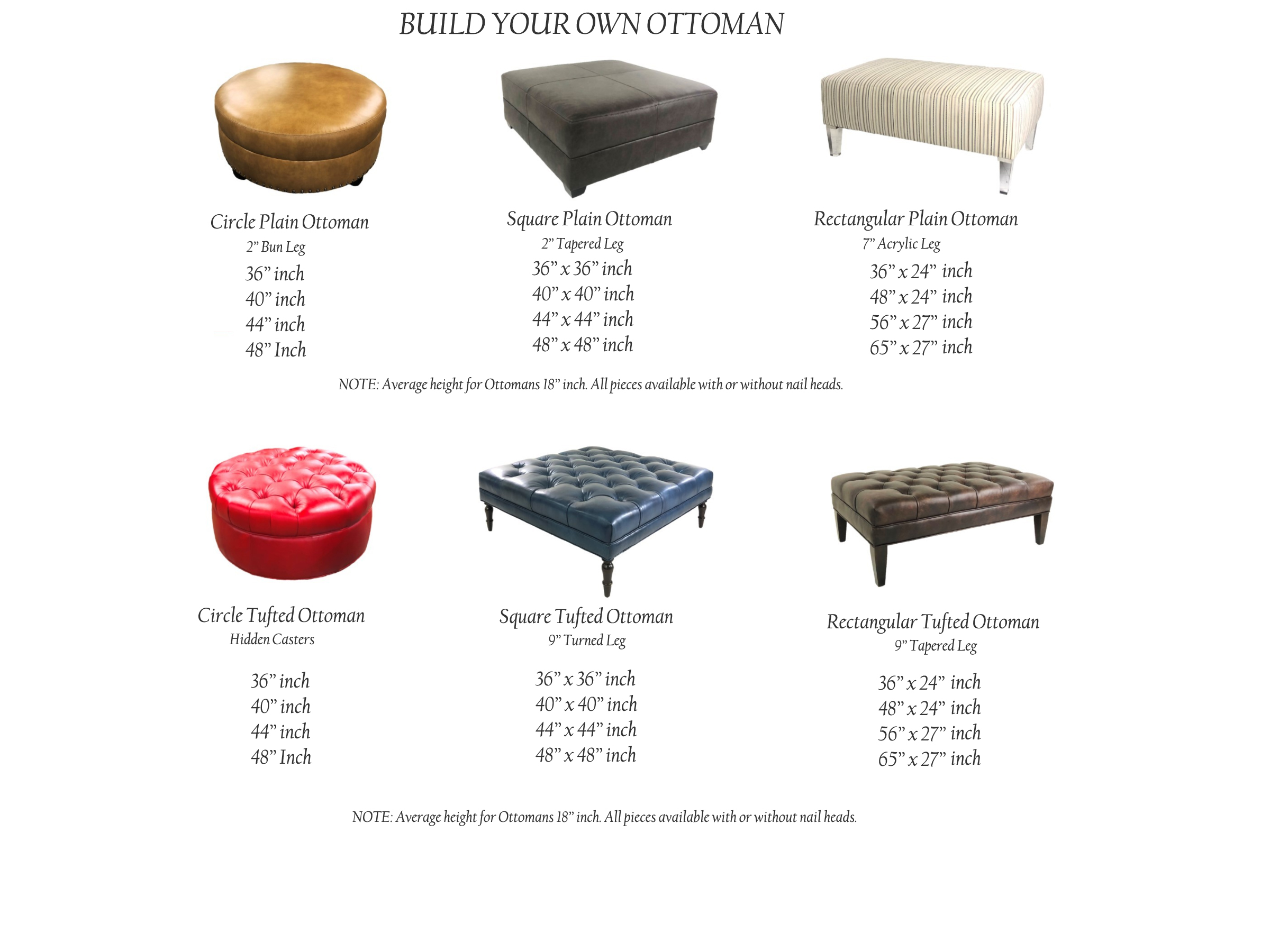 american heritage build your own ottoman