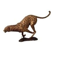 Cheetah Running | Sculpture | Outdoor Bronze