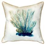 Blue Coral Sea Fan Throw Pillow Caron S Beach House