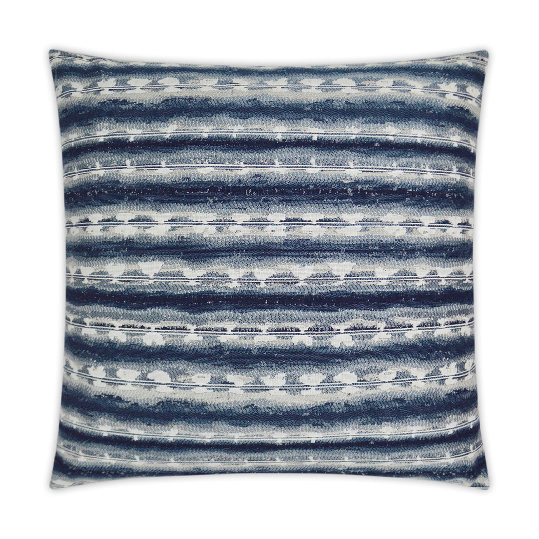 sunshibo stripe 22 x 22 navy and white pillow
