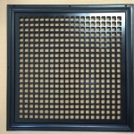 Return Air Grille For And 18 X 18 Opening 21 X 21 Overall Size Square Design Black Finish Majestic Vent Covers