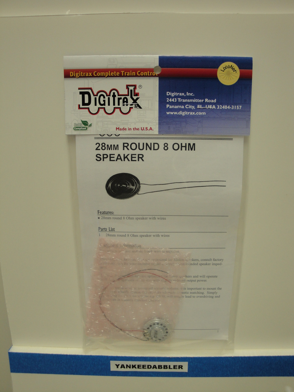 hight resolution of sp28288 digitrax speaker w wire round 8ohm scale all part