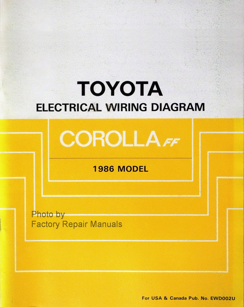 1986 Toyota Corolla Workshop Manual