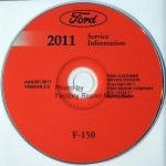 2011 Ford F150 Factory Service Manual Cd Original Shop Repair Factory Repair Manuals