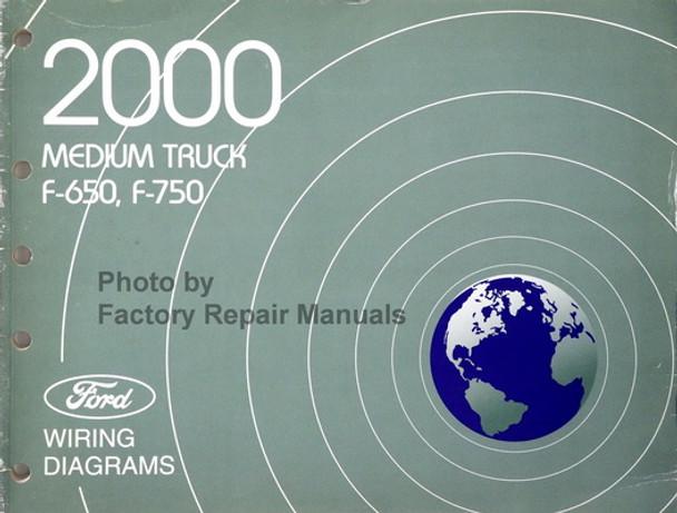 2000 Ford Dealer Electrical Wiring Diagram Service Manual Medium Duty
