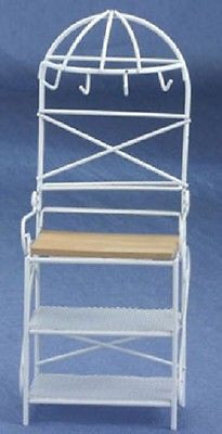 metal kitchen rack ikea rugs cla10342 g9825w white a dollhouse shoppe miniature