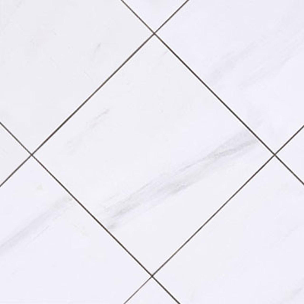 bianco dolomiti 12x12 marble tile honed