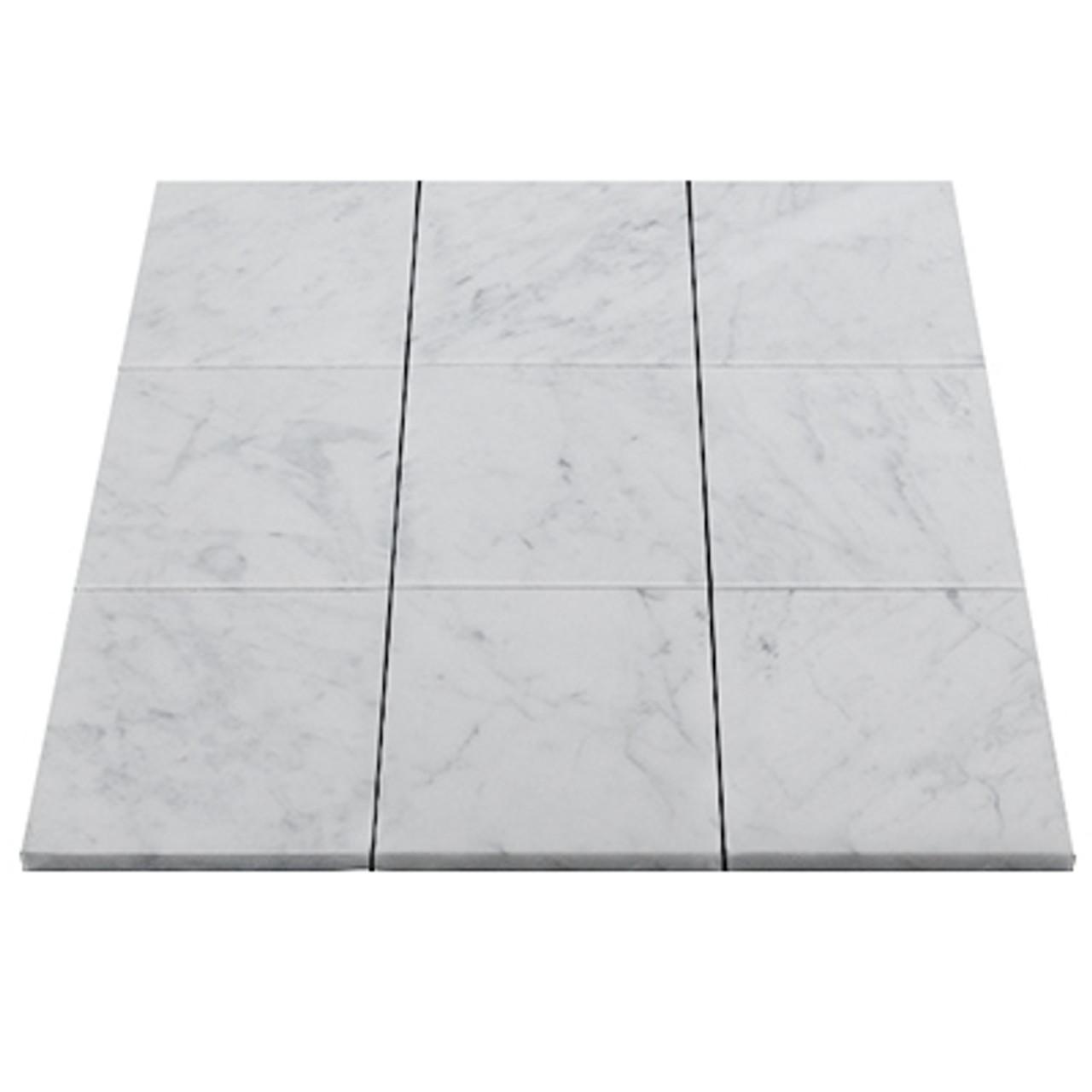 4 x 4 italian carrara marble tile honed