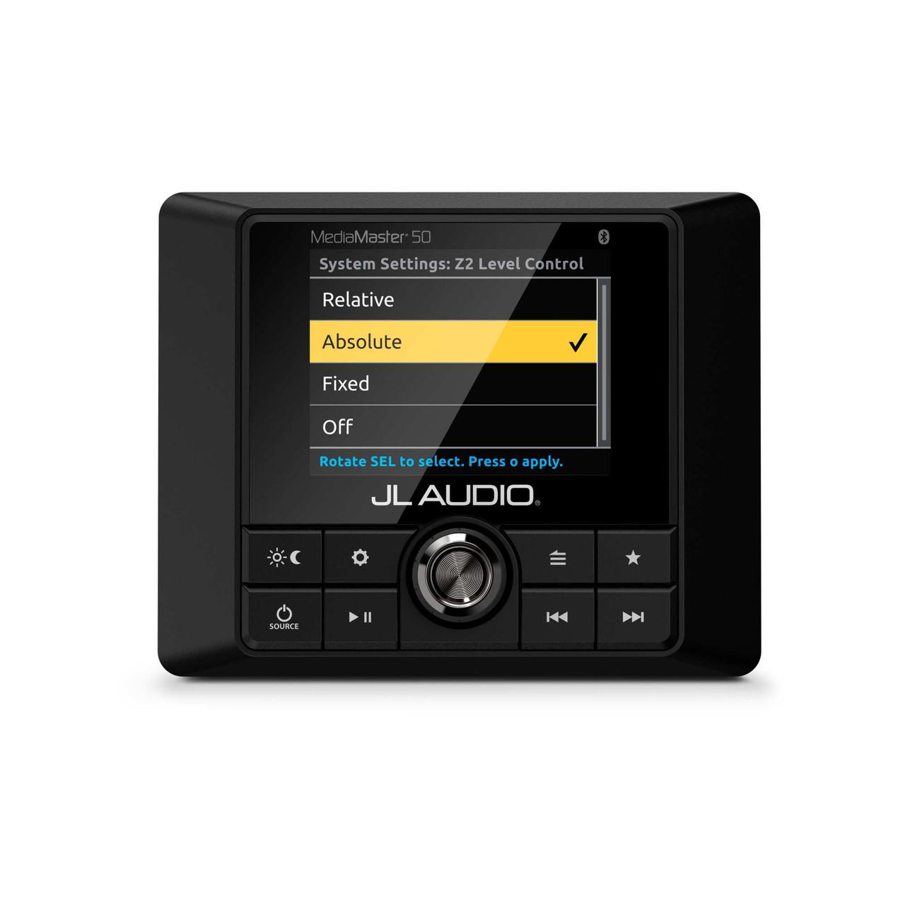 medium resolution of  diagram speakers jl audio jl audio mm50 weatherproof marine source unit with full color lcd on