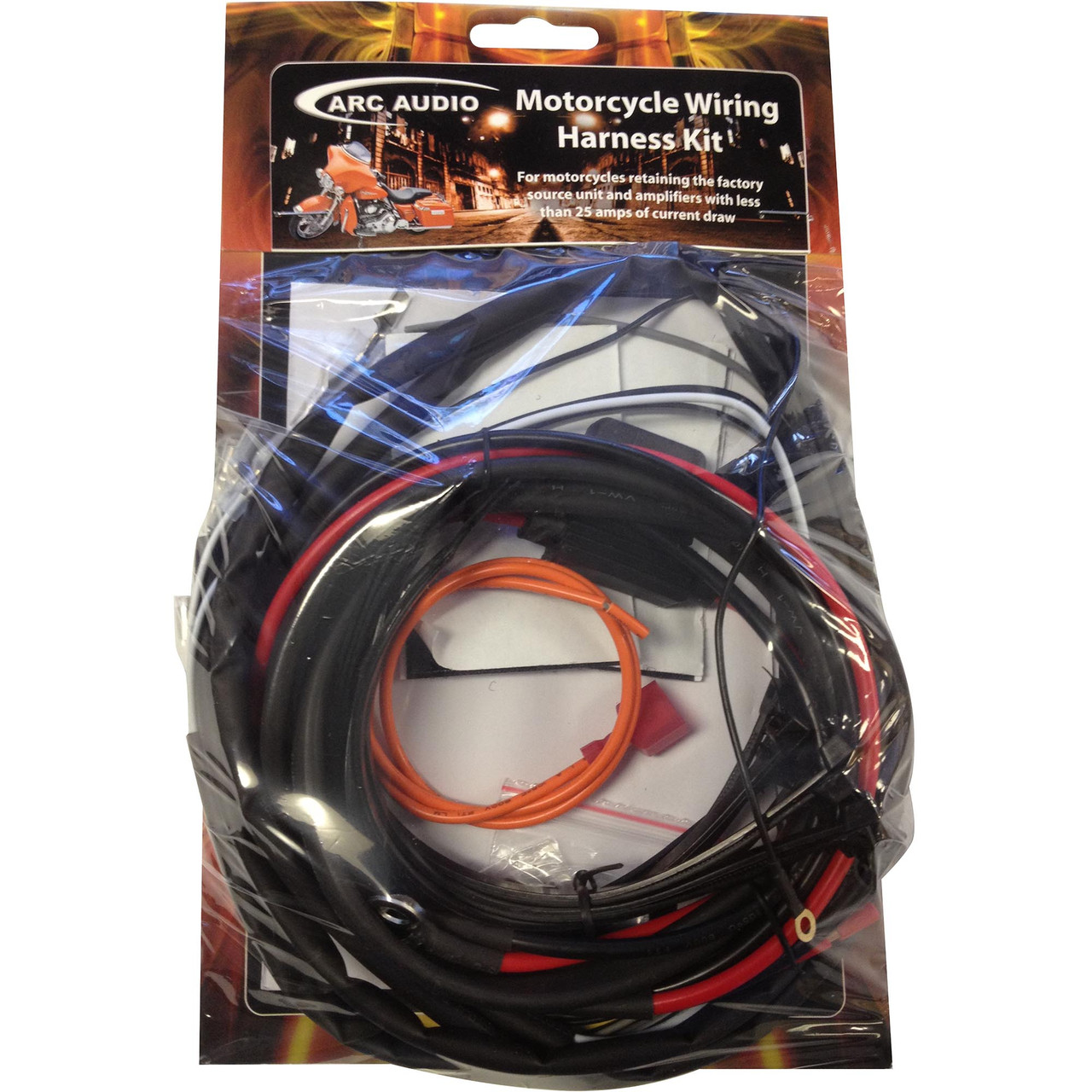 small resolution of  arc audio hd harness ks125 2bx2 wiring kit for harley davidson