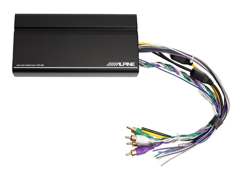 alpine kta450 4channel power pack amplifier with dynamic peak power 45w  rms x 4 at 2 or 4 ohms