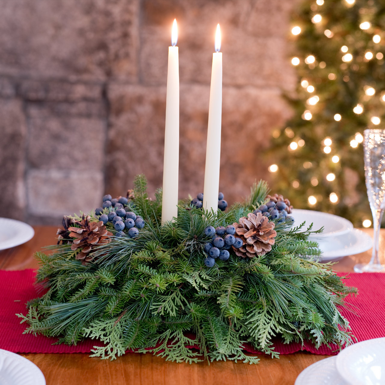 Centerpieces For Christmas Table