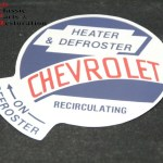 53 59 Gmc Chevy Truck Recirculating Air Heater Box Decal Muds Classic Parts