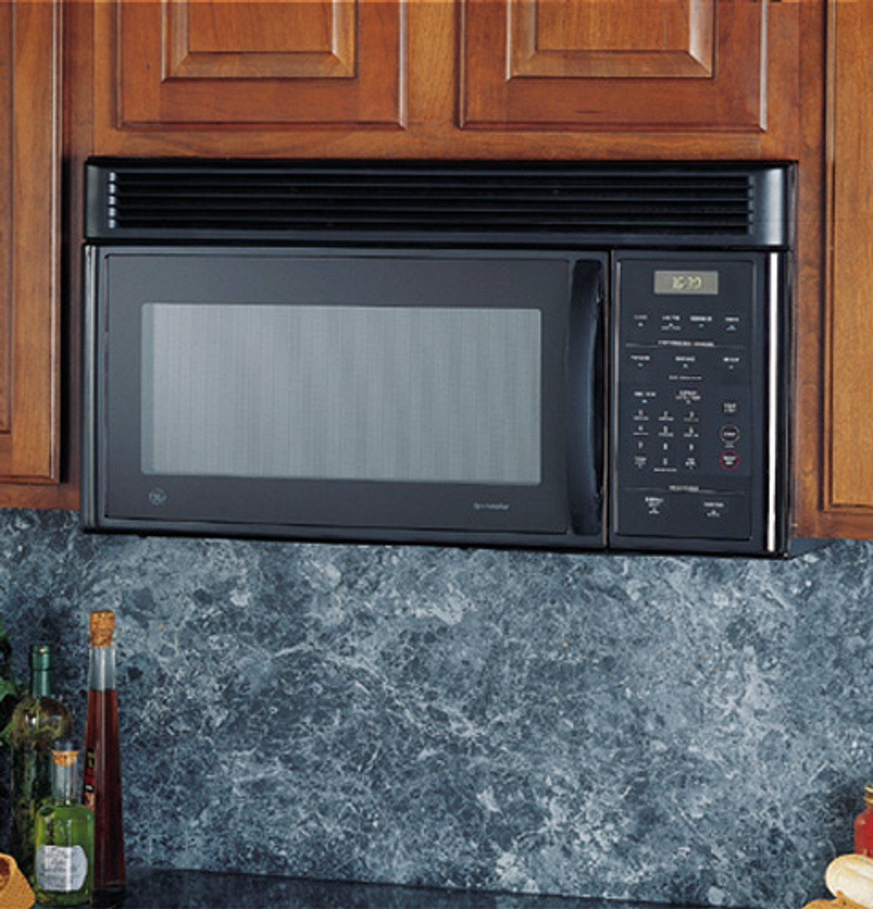 ge spacemaker over the range microwave oven with recirculating vent jvm1631bk