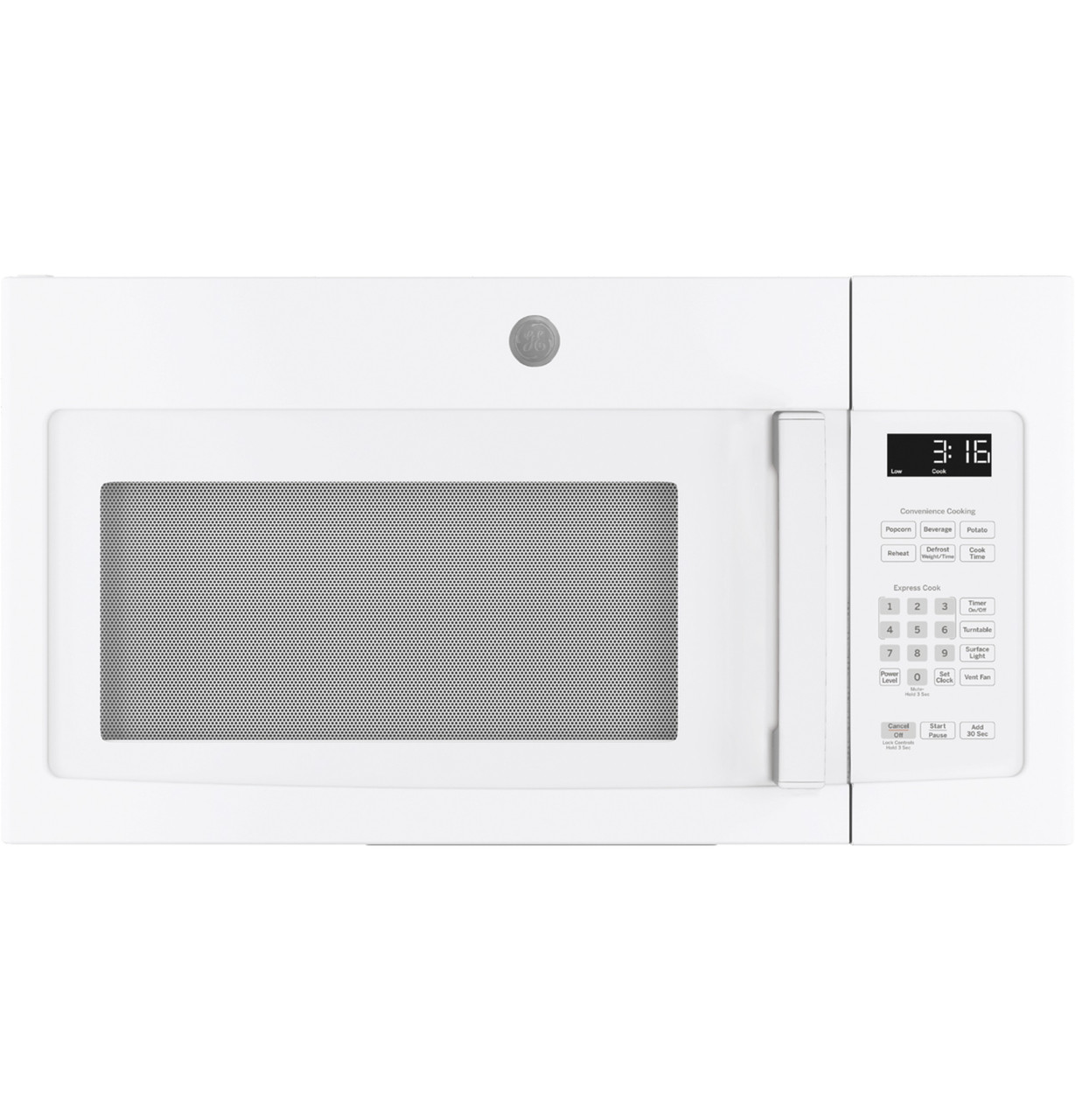 ge 1 6 cu ft over the range microwave oven with recirculating venting jnm3163djww