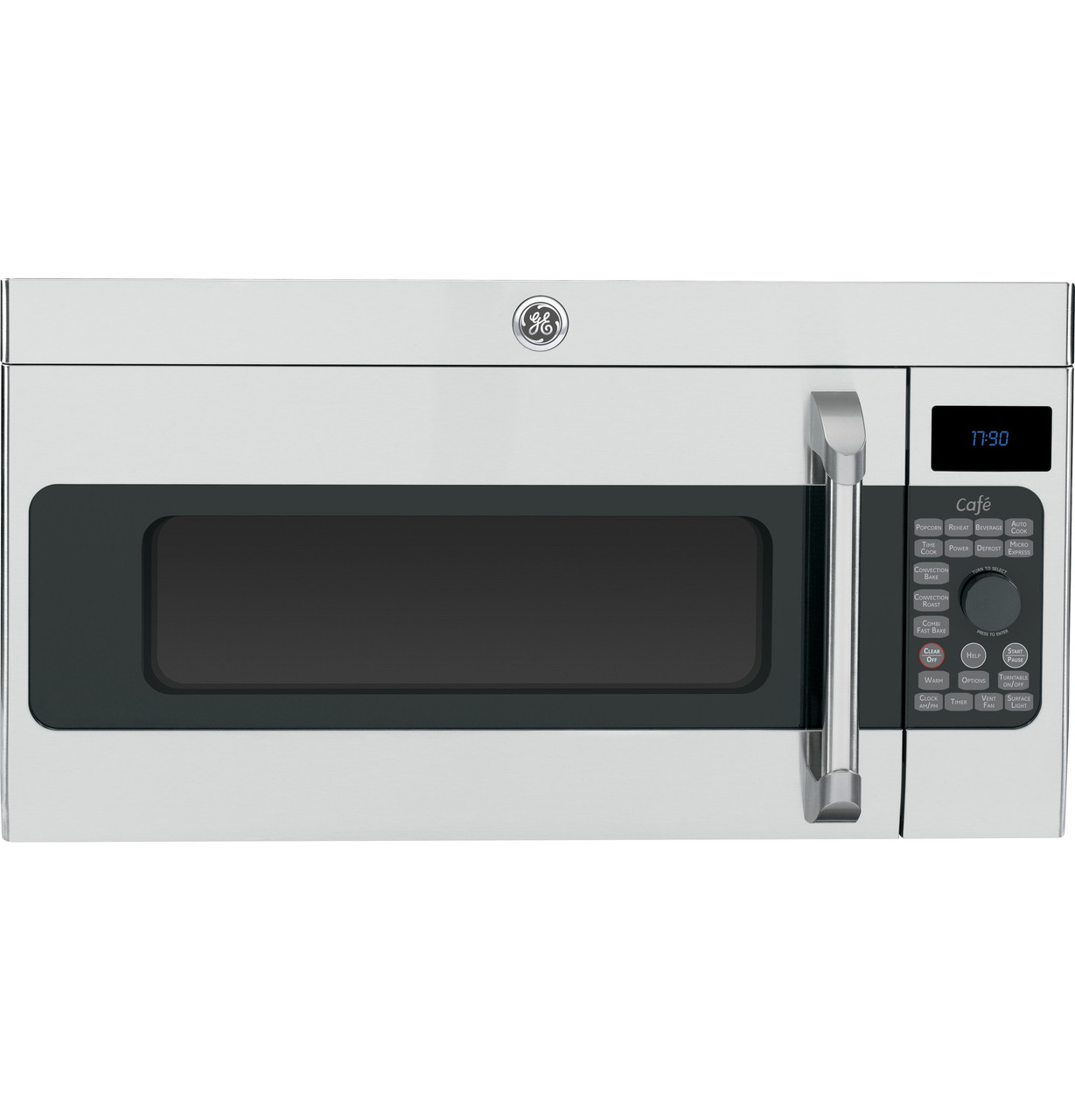 ge cafe series 1 7 cu ft convection over the range microwave oven cvm1790ssss