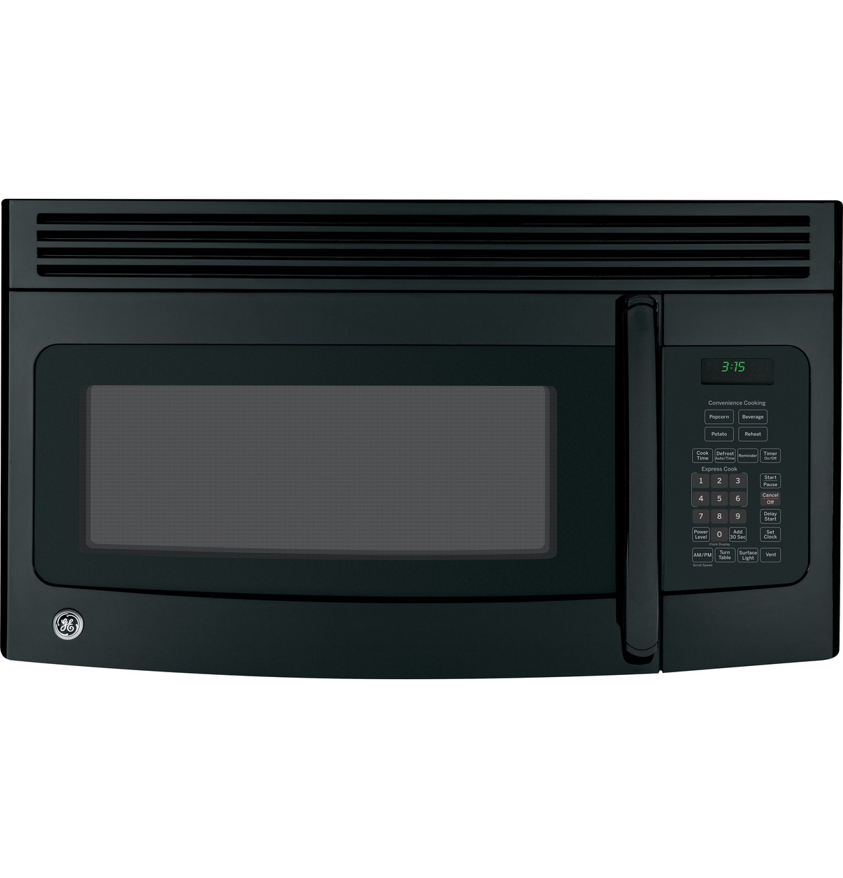ge 1 5 cu ft over the range microwave oven jvm3150dfbb