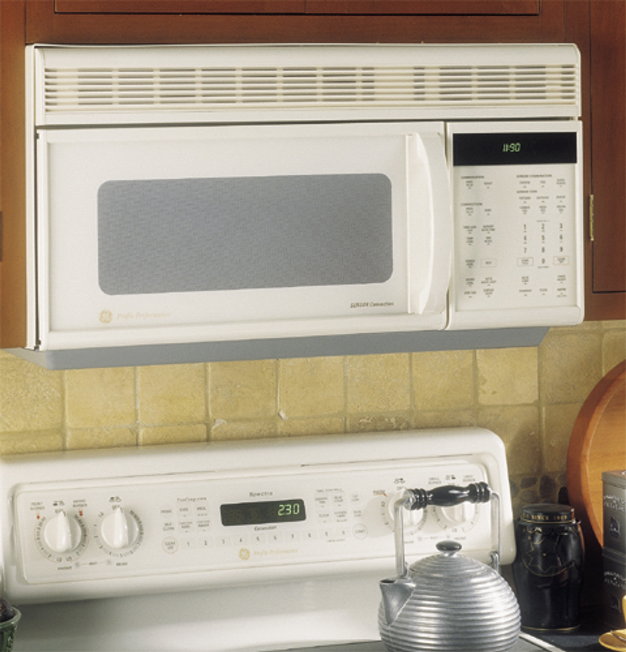 ge profile performance spacemakerplus microwave convection oven w sensor cooking jvm1190cb