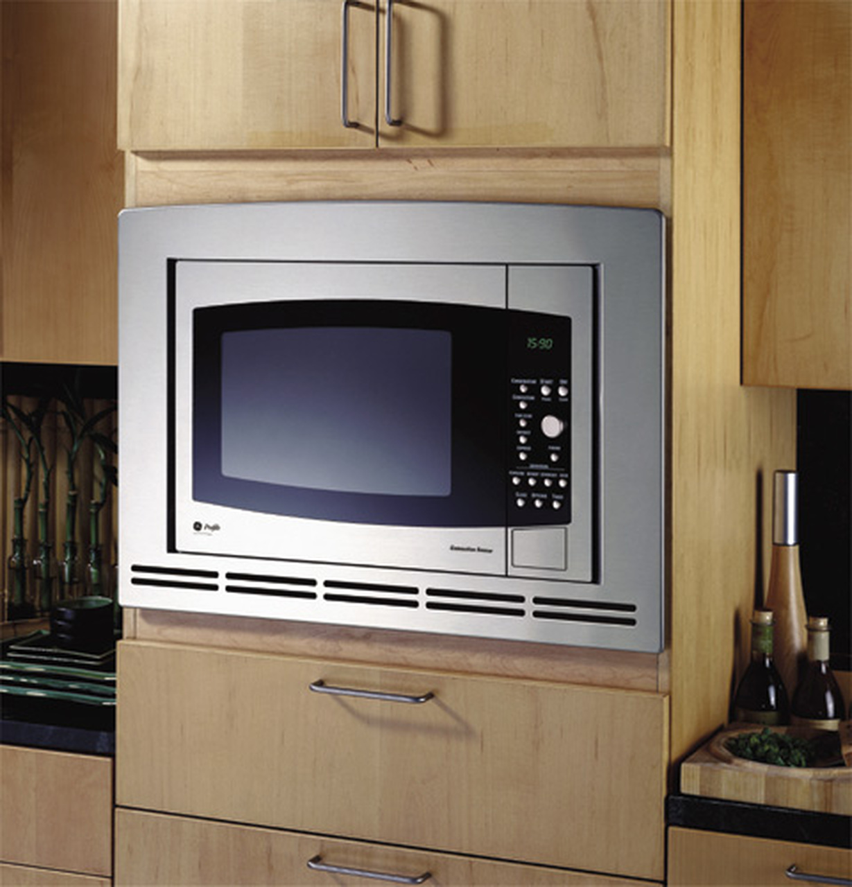 ge profile countertop convection microwave oven je1590sh