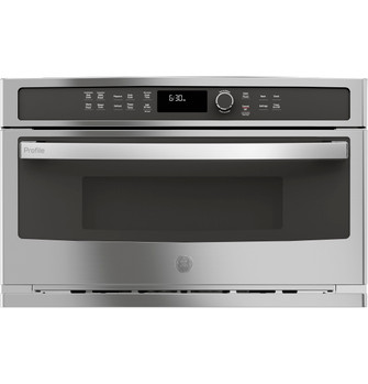 ge profile built in microwave convection oven pwb7030slss