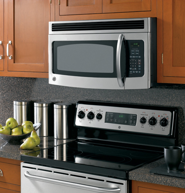 ge spacemaker over the range microwave oven jvm1540smss