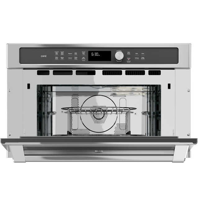 ge cafe series built in microwave convection oven cwb7030slss