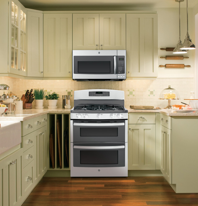 ge profile series 1 9 cu ft over the range microwave oven with recirculating venting pnm9196sfss