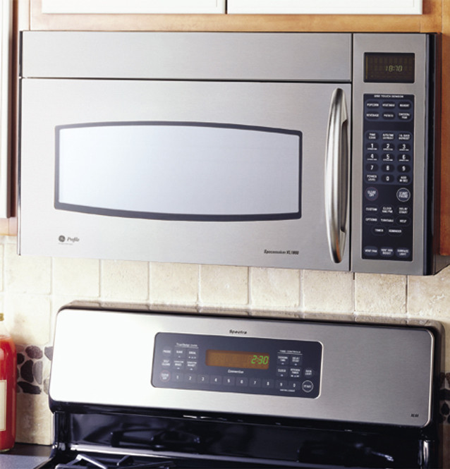 ge profile spacemaker xl1800 microwave oven with recirculating venting jvm1871sh