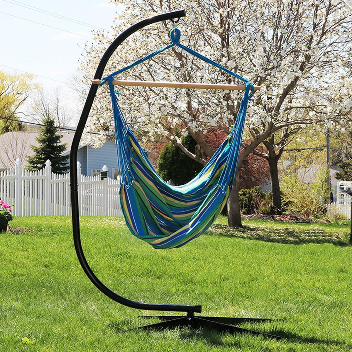Sunnydaze Jumbo Hanging Hammock Swing 60