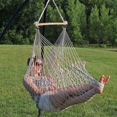 Hammock Chair Swings Heated Cover For Recliner Sunnydaze 48 Hanging Cotton Rope Swing Inch Wide Seat Max Weight 330 Pounds
