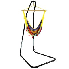 Hammock Chair Stand Adjustable Vingli Fishing Sunnydaze Mayan With Rope And Comfortable Hanging Swing Seat