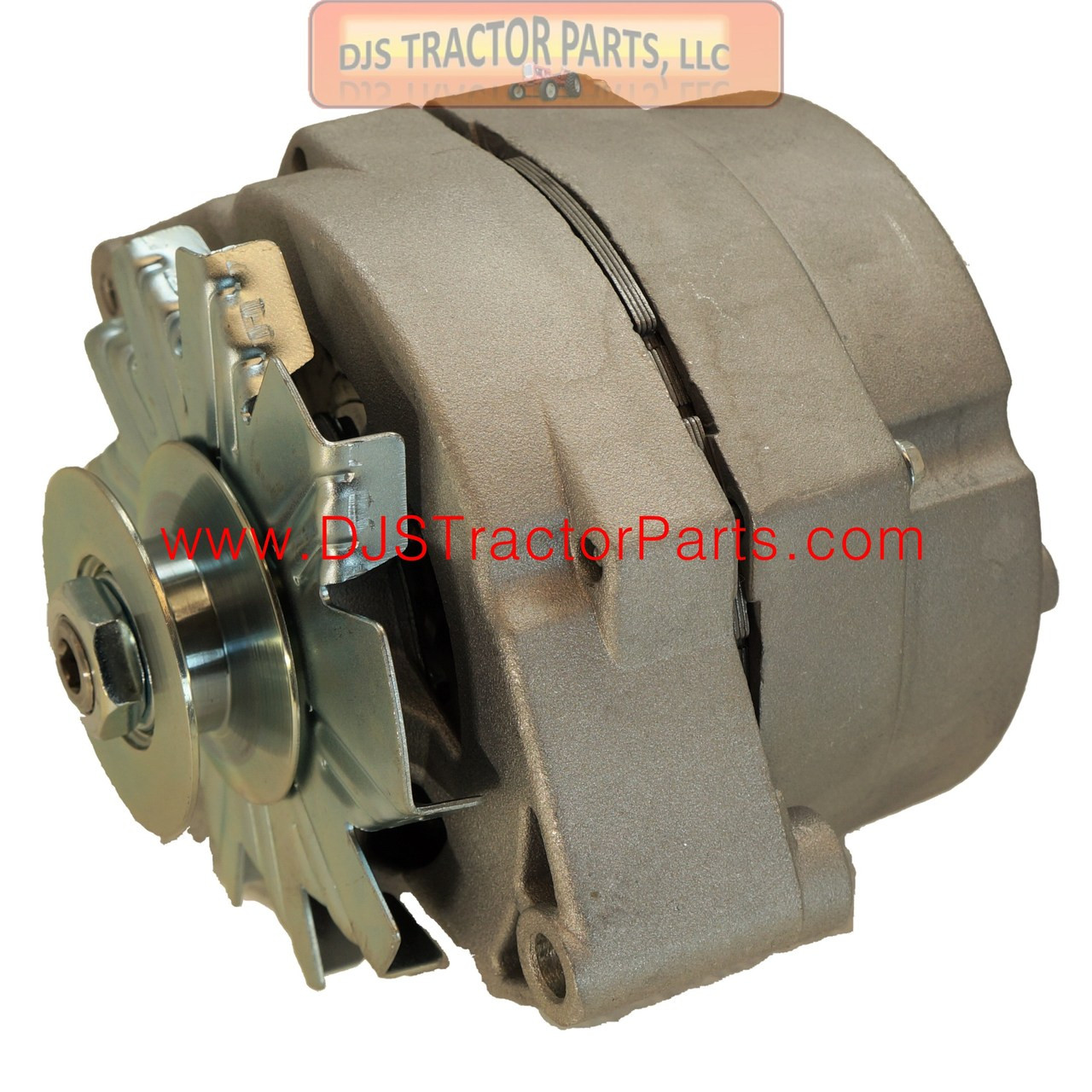 small resolution of 63 amp one wire alternator with pulley used for converting 6 volt to 12 volt ab 418d djs tractor parts llc