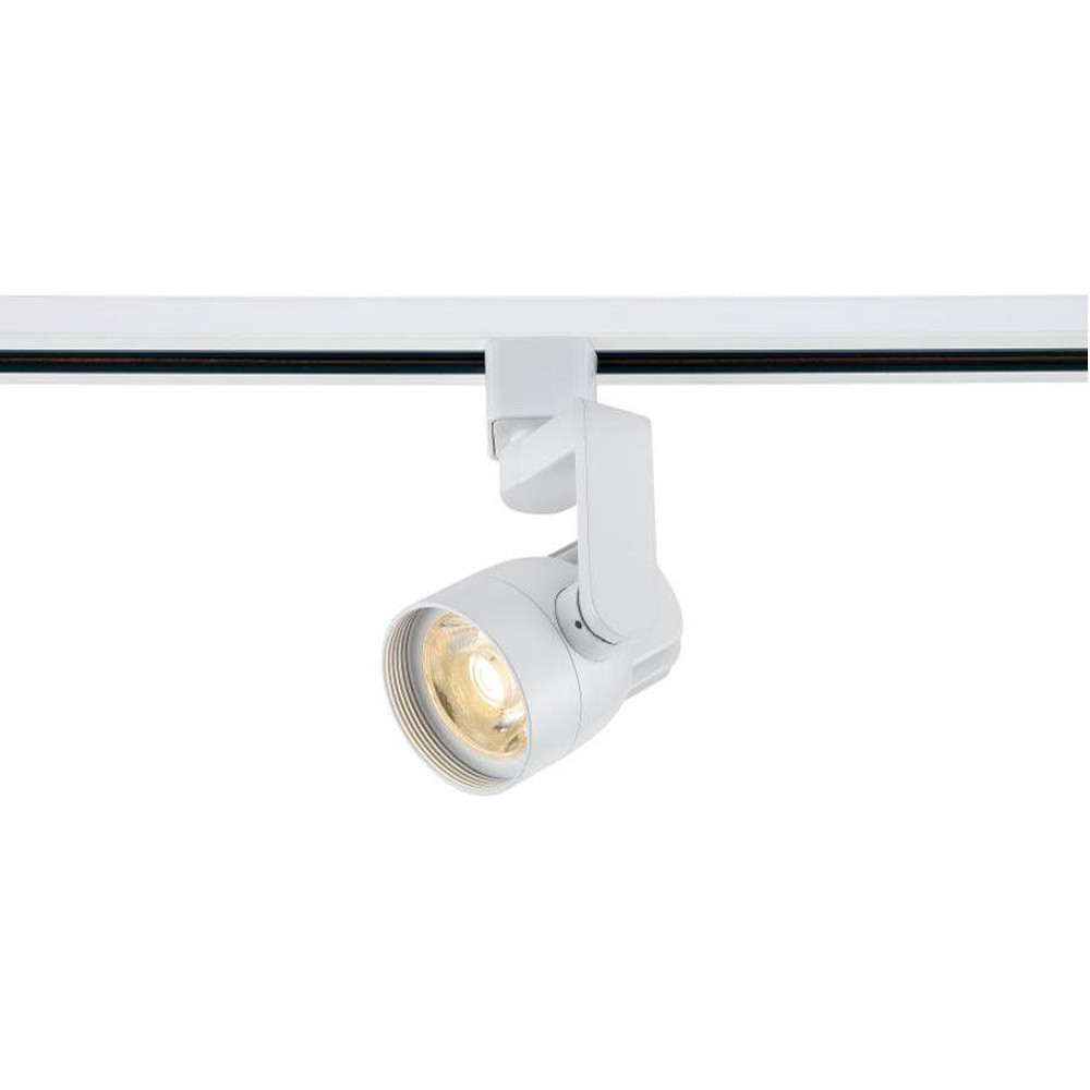art gallery led track lighting fixture with angle arm white finish 24o beam 820 lumens 3000k soft white color temperature