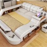 Genuine Leather Bed Frame With Massage And Safe Modern Soft Beds Home Bedroom Furniture Onshopdeals Com