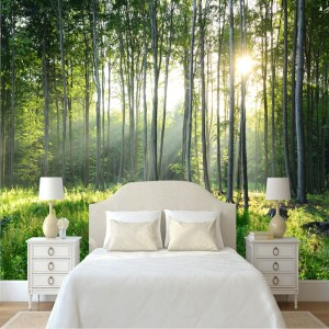 bedroom forest nature murals living scenery mural covering wallpapers rainforest paper space strem onshopdeals